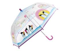 Kinder-Schirm transparent Pinguine (4)